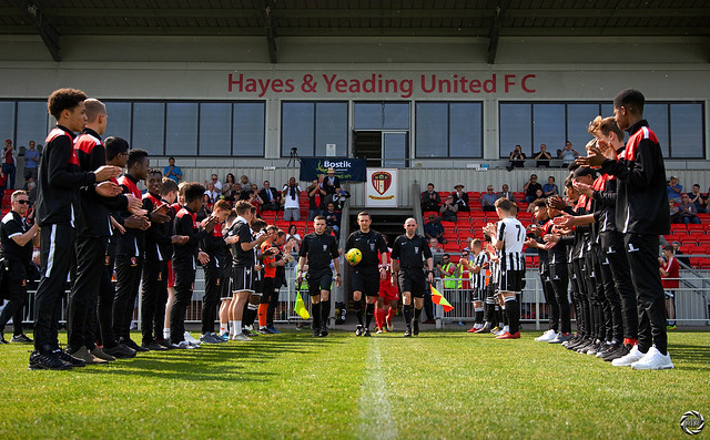 'Applauding the winners' Hayes & Yeading United are crowned as Bostik League South Central Champions.