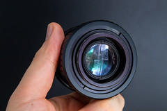 Rear view of a Helios 44-3 58mm F2 MC