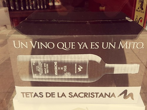 A local wine tetas de la sacristana