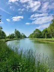 Canal de Saint-Quentin, Picardie, Frankreich