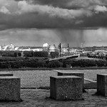 Regenwolken über Duisburg