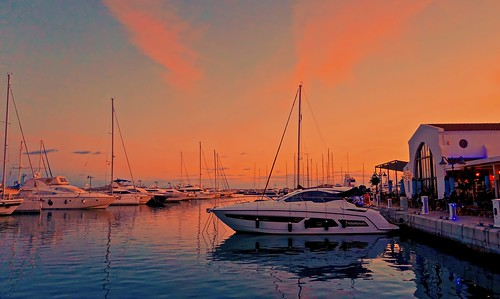Sunset Light - Limassol marina, Cyprus