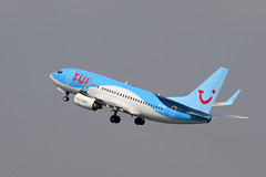 Boeing 737-7K2 , Tui Fly Belgium, destination Marrakech, OO-JAL - Photo of Phalempin