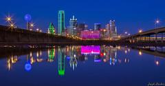Dallas Skyline in a puddle