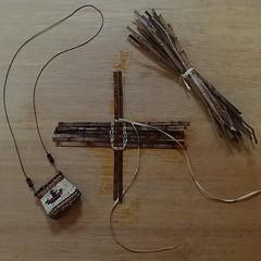 #cedarbasketnecklace #cedar #basket #necklace #twining #DIY