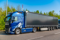 European Truck Driving Ban for 24hrs, So Parked up @ Someones Hoose (Uk Truck Drivers Joke for ) Summesous France And theres Trucks here there and everywhere....