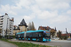 Iveco Bus Urbanway 18 BHNS n°513  -  Besançon, GINKO - Photo of Franois