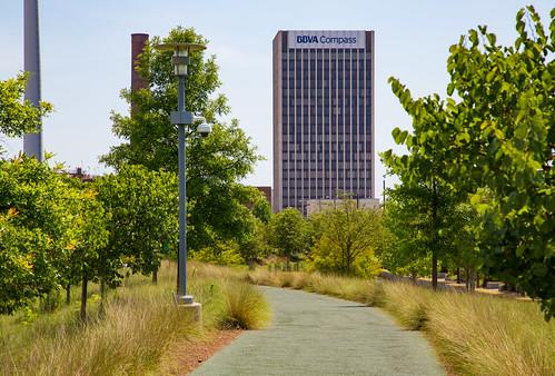 Railroad Park - BBVA Compass Tower - Birmingham, Alabama