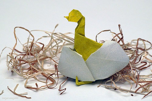 Origami Hatching Chick (Neal Elias)