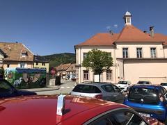 Giromagny, achter het stadhuis