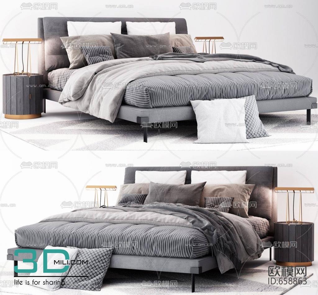 284  Bed 3dsmax File Free Download - 3D Mili - Download 3D