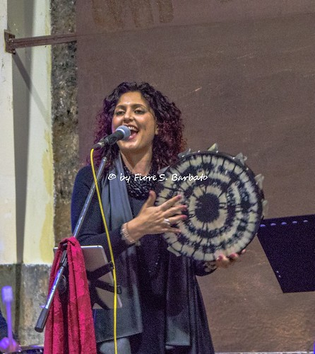 San Potito Ultra (AV), 2019, Concerto di Fiorenza Calogero e Carlo Faiello nella vecchia Ramiera Borbonica.