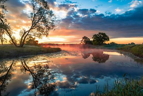 Morning sunrise on sunday