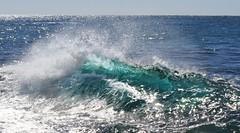 Waves crashing at Iluka