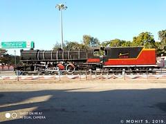 Meter Gauge steam locomotive 🚂 outside station on display 👌