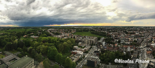 Sunset brussels panorama