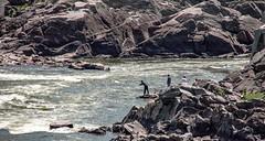 Fishermen on the Potomac River in Great Falls Park, Virginia
