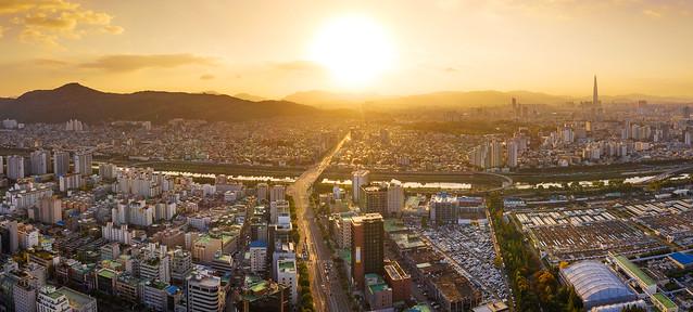 Bình minh Seoul flycam (drone), Hàn Quốc