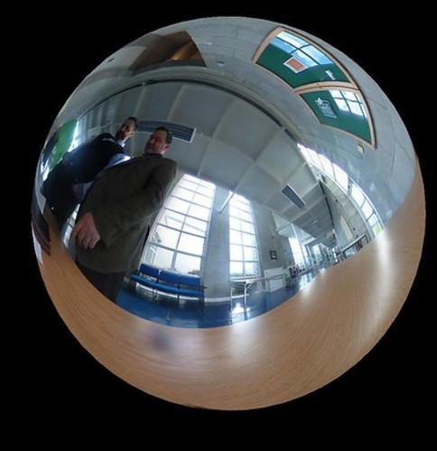 Joining Julian Wood inside the sphere
