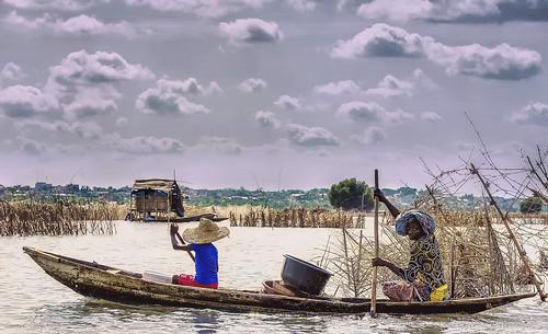Cité Lacustre de Ganvié (Bénin)_Lac Nokoué/Ganvié Floating village (Benin)_Lake Nokoue