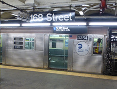 NYCT R32 3354 at 168 Street Station (A/C)