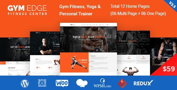 Gym Edge v3.5 - Gym Fitness WordPress Theme