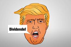 Dividende-als-Trump-Donald-Karikatur