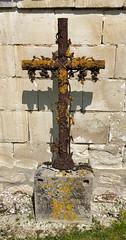Kreuz am Wegesrand, Champagne, Frankreich