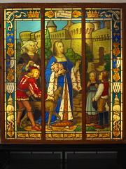 Vidriera de la duquesa de Bretaña, Claudia, hija de los Duques de Bretaña que se caso con el rey de Francia Francisco I (Castillo de Fougéres) - Photo of Laignelet