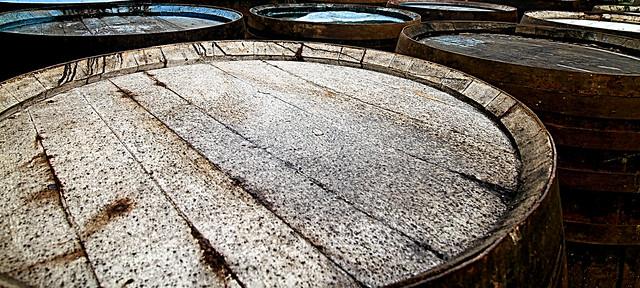 Whisky Barrels , Glengoyne Distillery , Killearn , Scotland