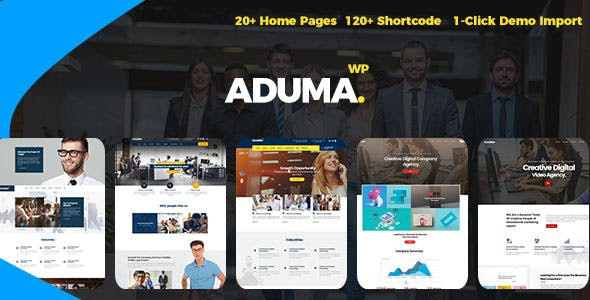 Aduma v1.2 – Consulting, Finance, Business WordPress Theme