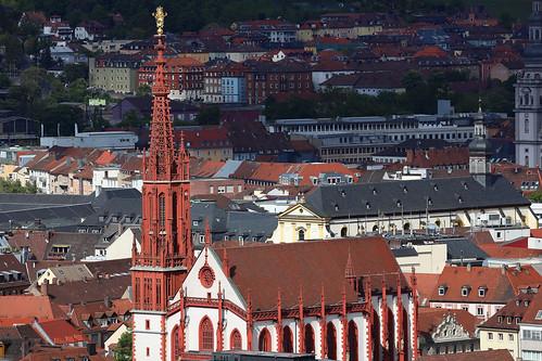 Marienkapelle - Blick von der Festung Würzburg
