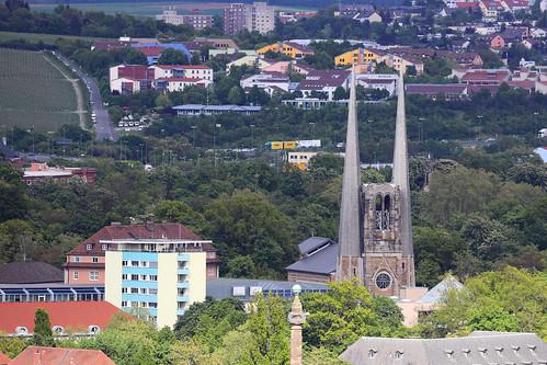 St.-Johannis-Kirche - Blick von der Festung Würzburg