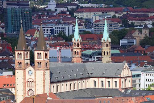 St. Kilians-Dom - Blick von der Festung Würzburg