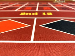 Black and red on a Roulette table