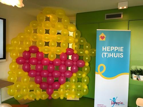 Ballonnenwand Opening Heppie (t)huis Geldrop voor het vergeten kind