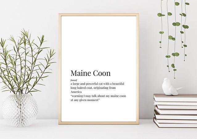 Maine Coon Definition Print Main