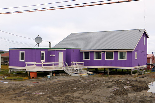 purple house in the artic circle