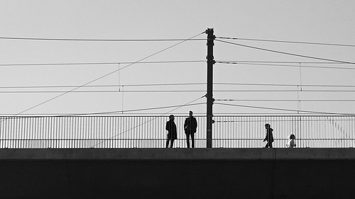 on the viaduct