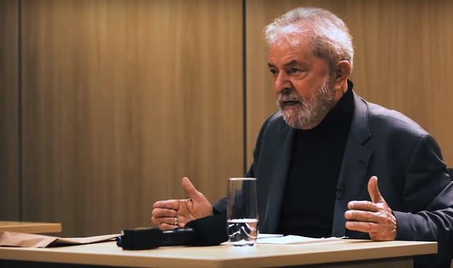 Ex-presidente falou, entre outros pontos, sobre situação que vive na prisão - Créditos: Foto: Reprodução/Intercept Brasil