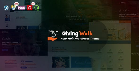 GivingWalk v1.0.1 - Multipurpose Nonprofit WordPress Theme
