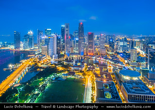 Singapore - Room with the View - Skyline of Singapore City During Blue Hour