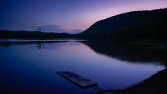 Dusk Reflecting in Moss Lake