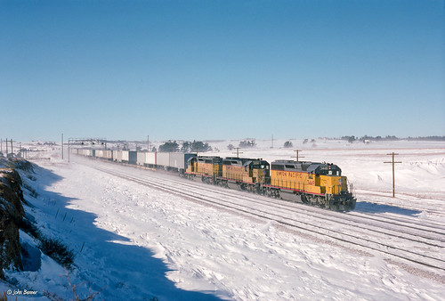 UP 3449 East at Buford, WY