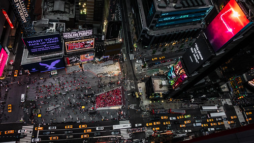 Looking Down on Times Square, New York City