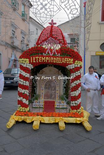 Aversa (CE), 2010, Cerimonie di inizio del pellegrinaggio a Madonna dell'Arco: i