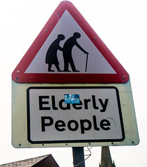Caution - Elderly People Crossing Sign