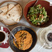 Our mezze - pumpkin seed acuka, pita, avocado and kale tabbouleh