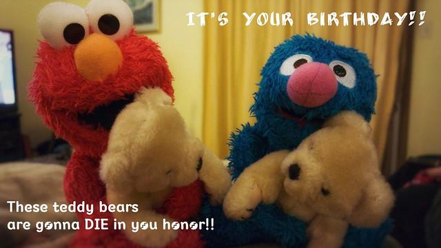A Sesame Street Birthday Card