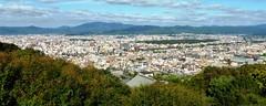Shogunzuka Seiryu-den, Kyoto City from Obutai (Observatory) -2, (October 2016)